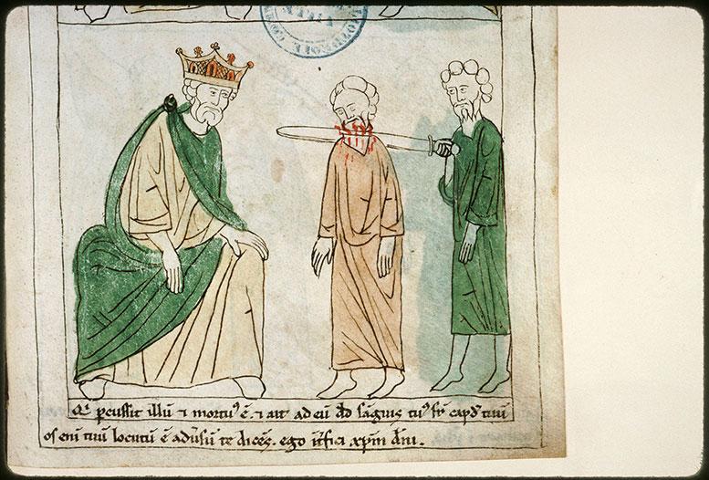Bible en images - David faisant exécuter l'Amalécite_0