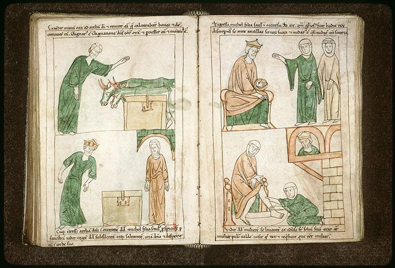 Bible en images - Mikal se moquant de David à l'entrée de l'Arche d'alliance à Jérusalem_0