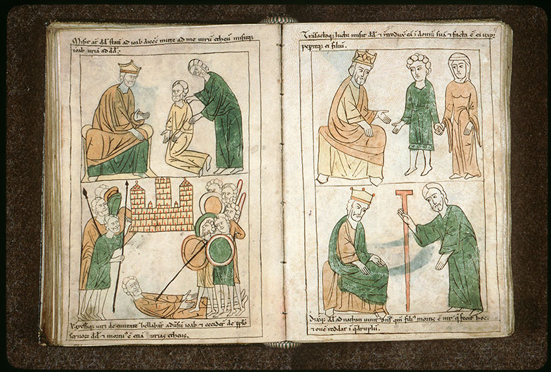 Bible en images - David, Bethsabée et leur premier fils_0