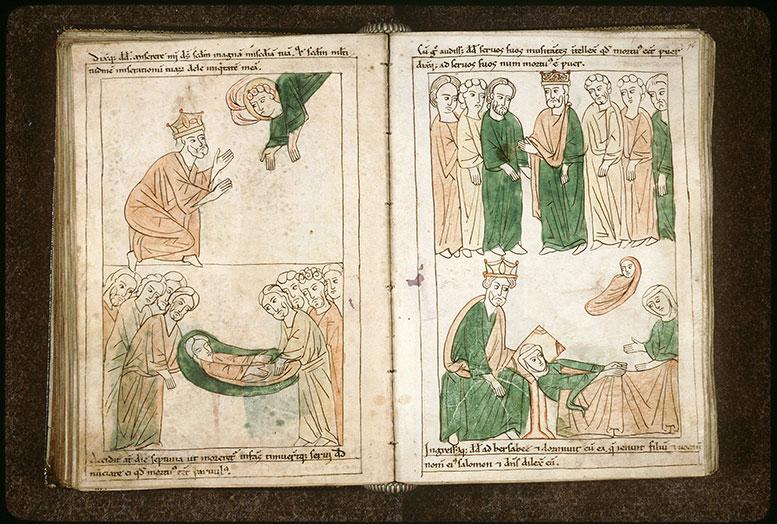 Bible en images - Mort du fils premier-né de David et de Bethsabée_0