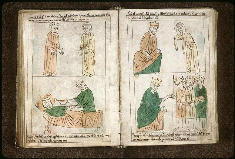 Bible en images - Amnon saisissant Tamar pendant qu'elle le sert_0