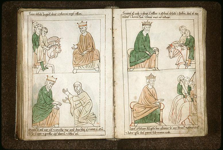 Bible en images - David et le retour à Jérusalem d'Absalom et de Joab_0