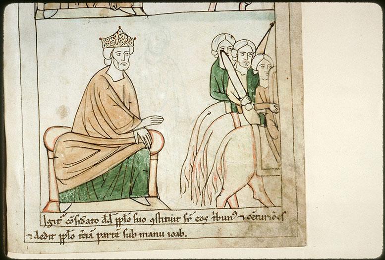 Bible en images - David et le départ des troupes pour la bataille contre Absalom_0