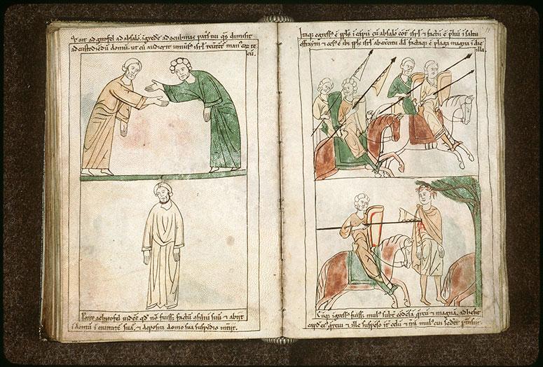 Bible en images - Armée chevauchant lors la bataille contre Absalom_0