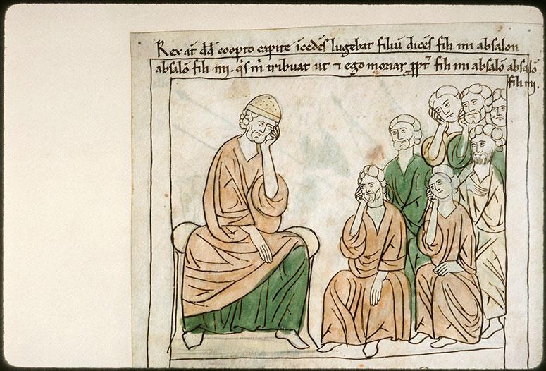 Bible en images - David pleurant Absalom_0