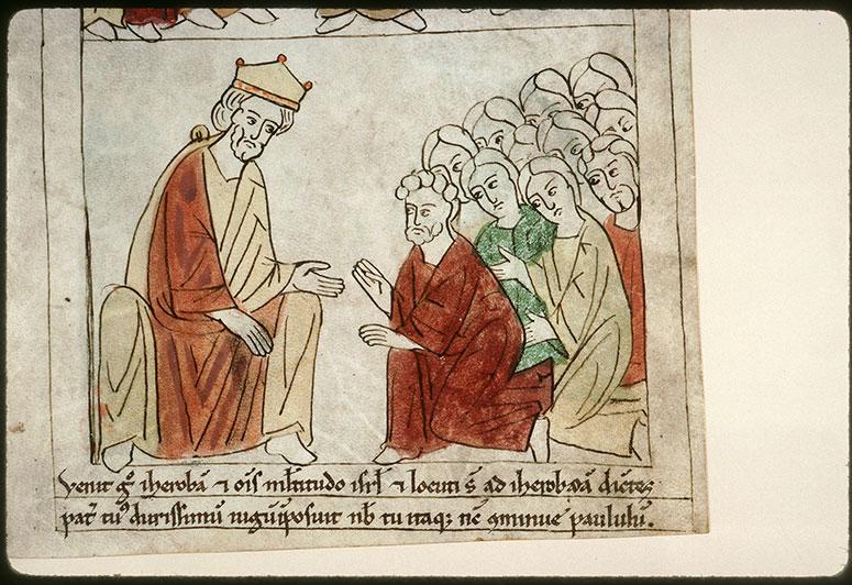 Bible en images - Peuple demandant à Roboam d'alléger son joug_0