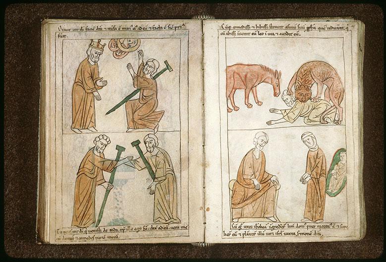 Bible en images - Homme de Dieu de Juda tué par un lion_0