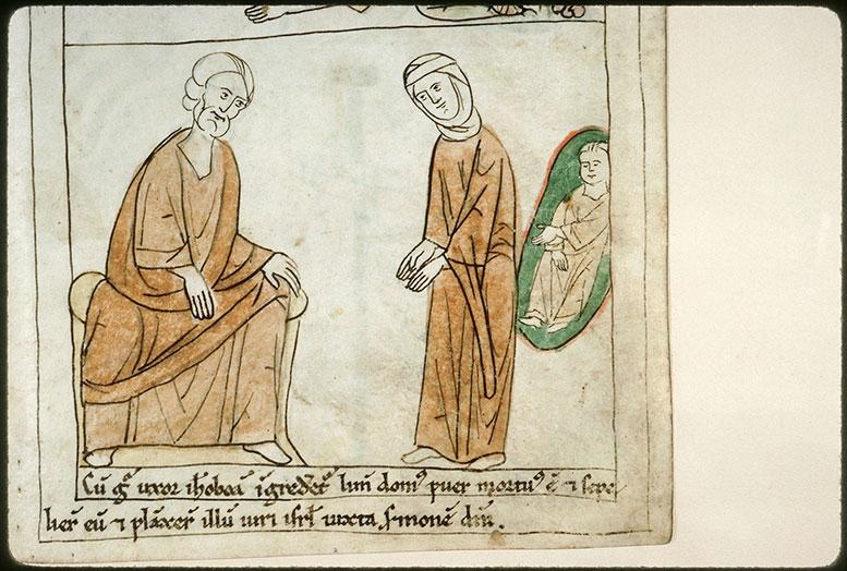 Bible en images - Ahiyyahu annonçant à la femme de Jéroboam la mort d'Abiyya_0