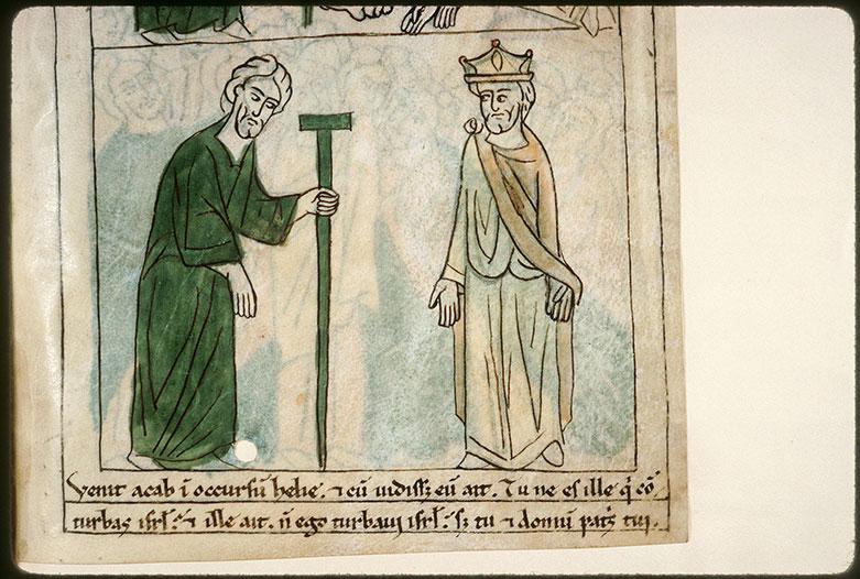 Bible en images - Reproches d'Elie à Achab_0
