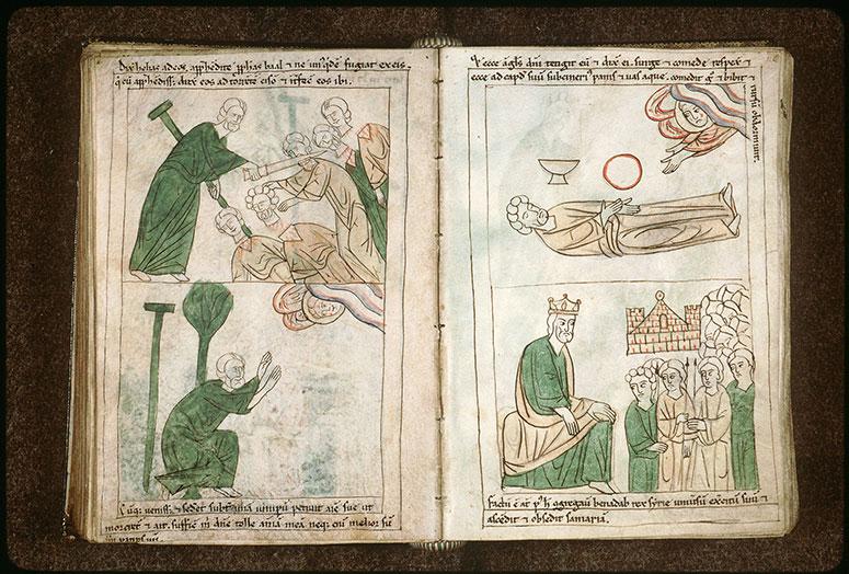 Bible en images - Elie nourri par un ange_0
