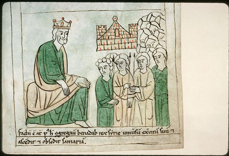 Bible en images - Ben-Hadad II et son armée rassemblée pour le siège de Samarie_0