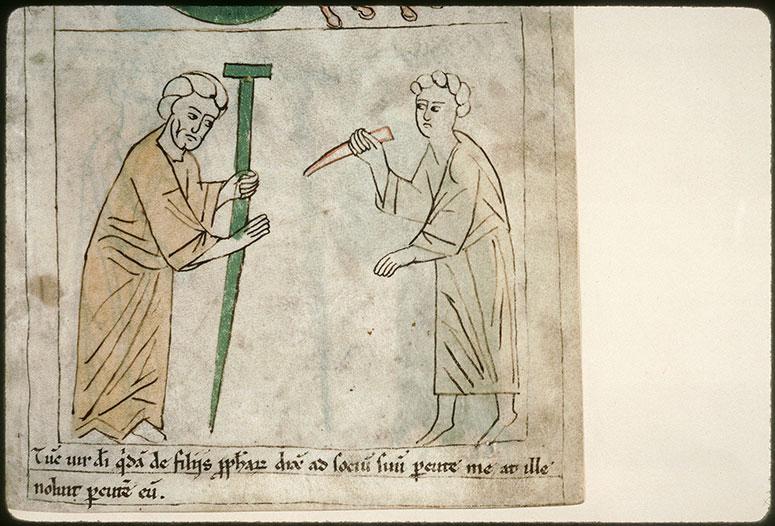 Bible en images - Prophète demandant vainement à un compagnon de le frapper_0