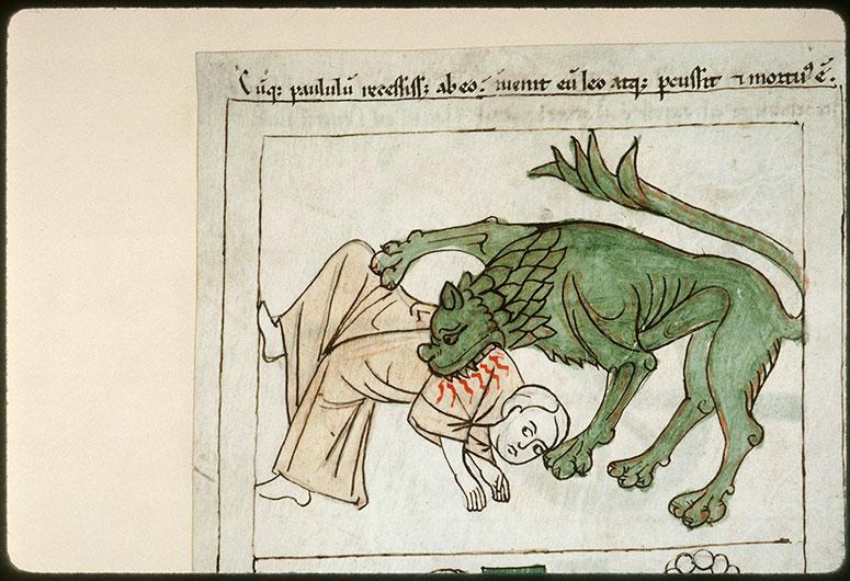Bible en images - Prophète tué par un lion_0