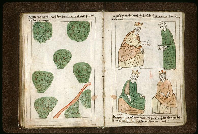 Bible en images - Achab demandant à Nabot de lui céder sa vigne_0
