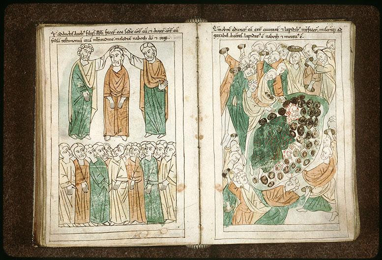 Bible en images - Nabot accusé faussement devant le peuple_0
