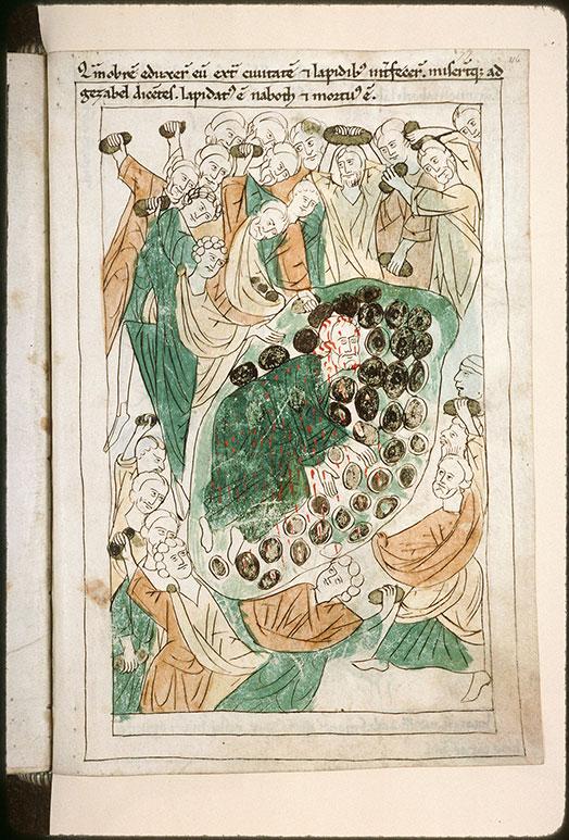 Bible en images - Lapidation de Nabot_0