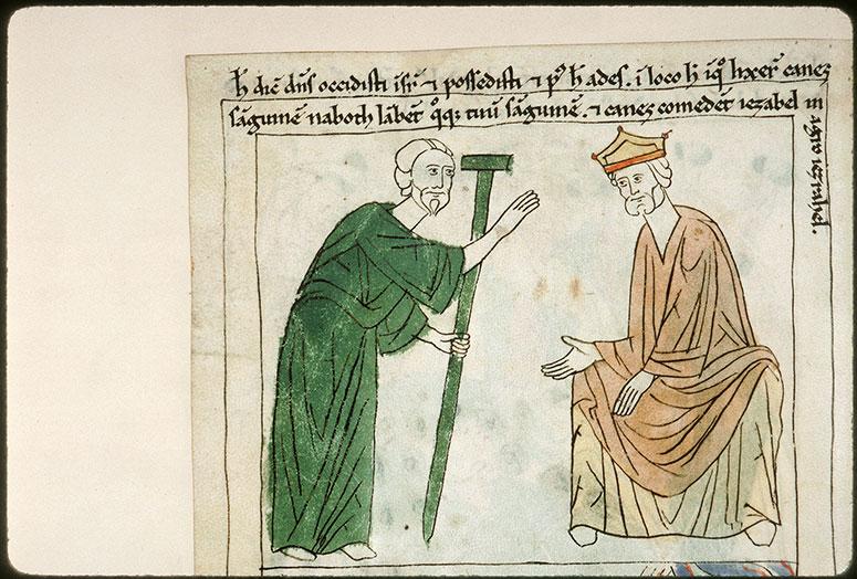 Bible en images - Elie prédisant à Achab son châtiment_0