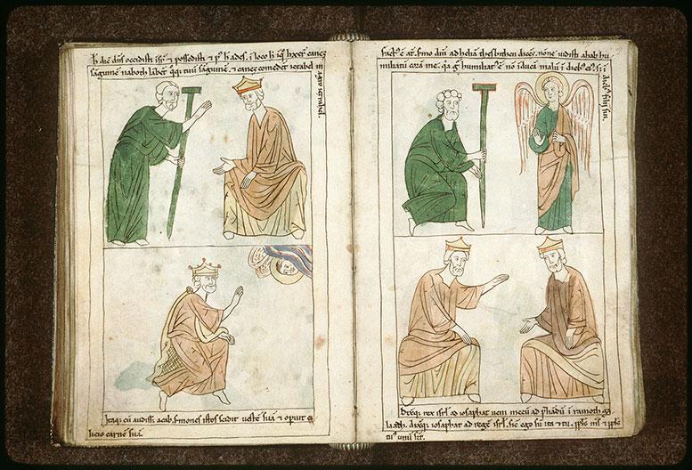 Bible en images - Ange annonçant à Elie le report du châtiment d'Achab_0