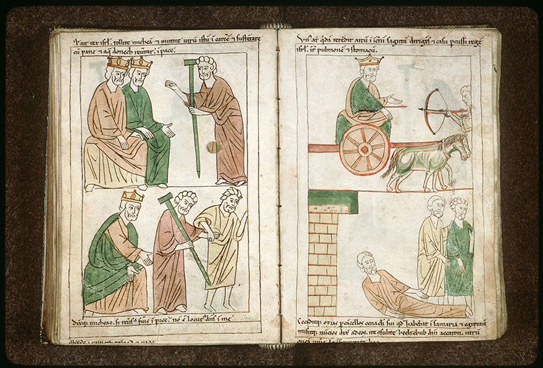 Bible en images - Michée fils de Yimla s'adressant à Achab et Josaphat_0