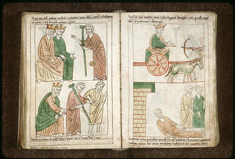 Bible en images - Ochozias, malade, envoyant consulter Baal Zebub_0