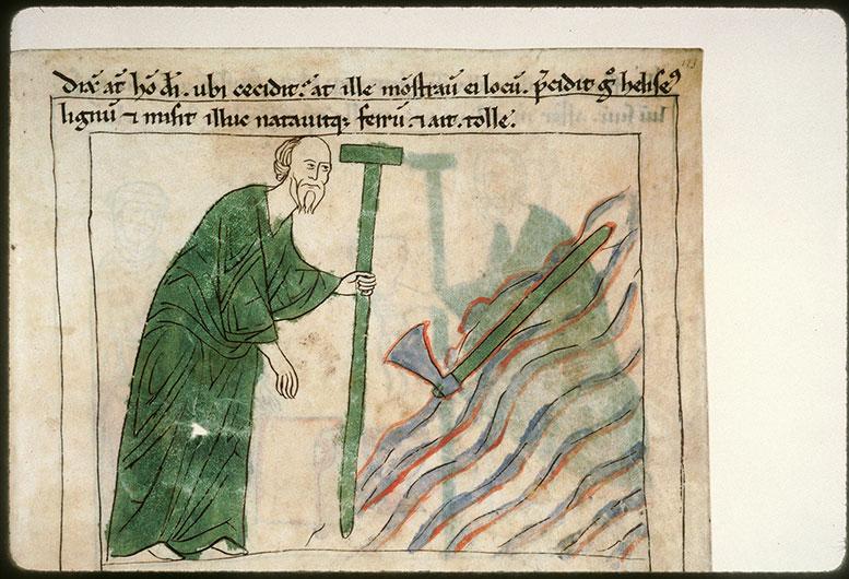 Bible en images - Elisée et le fer de hache flottant_0