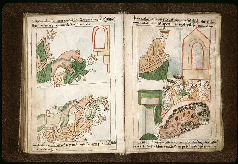 Bible en images - Jéhu et Jézabel dévorée par des chiens_0