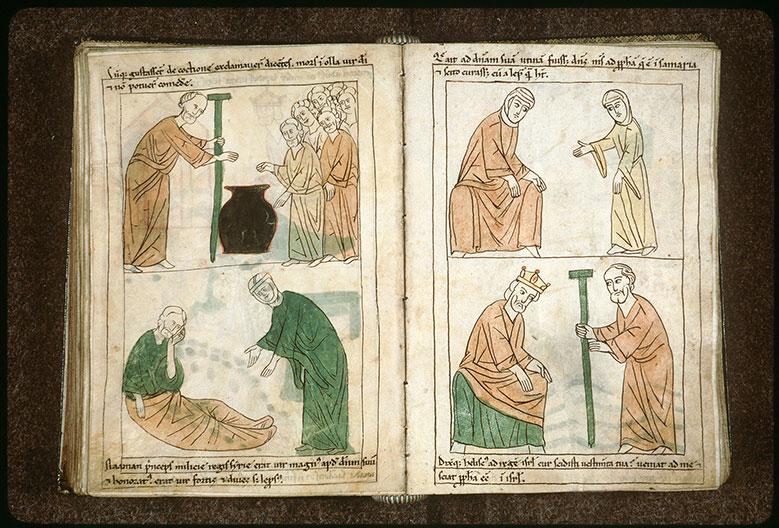 Bible en images - Servante de la femme de Naamân parlant d'Elisée à sa maîtresse_0