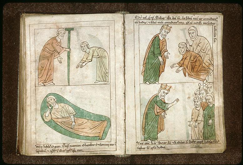 Bible en images - Roi d'Israël parlant contre Elisée lors de la famine dans Samarie_0