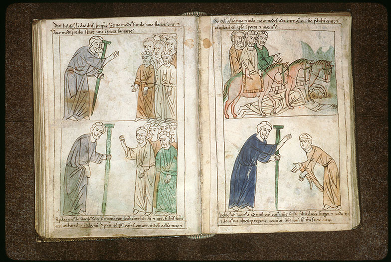 Bible en images - Elisée annonçant la fin de la famine dans Samarie_0