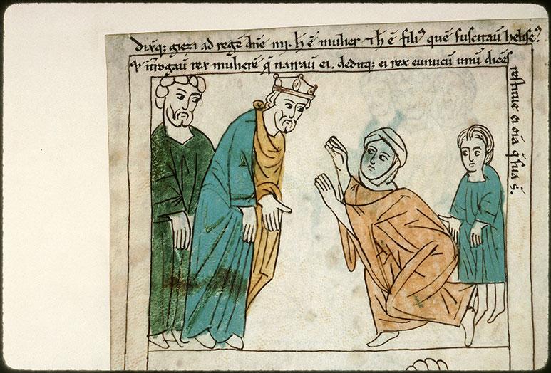 Bible en images - Shunamite demandant au roi la restitution de ses biens (La)_0