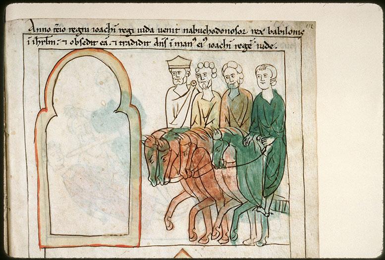 Bible en images - Nabuchodonosor arrivant à Jérusalem_0