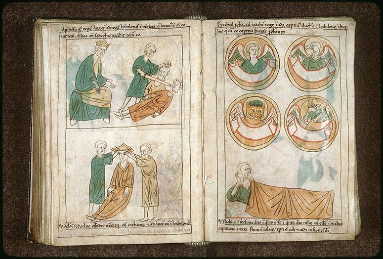 Bible en images - Nabuchodonosor faisant crever les yeux de Sédécias_0