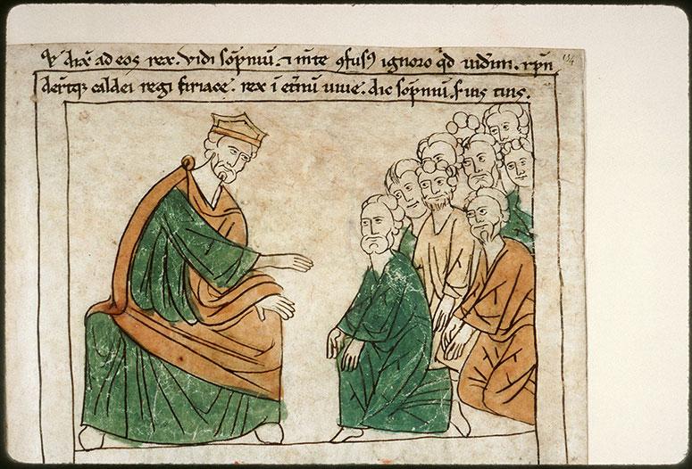 Bible en images - Nabuchodonosor interrogeant les devins_0