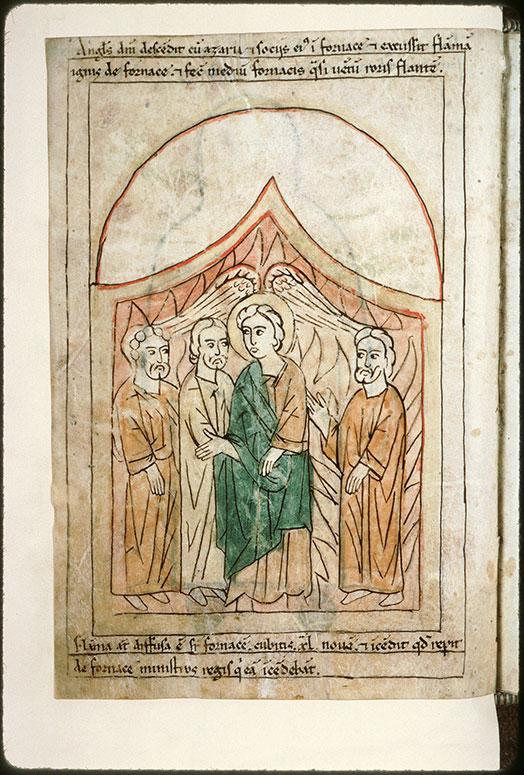 Bible en images - Trois Hébreux dans la fournaise (Les)_0