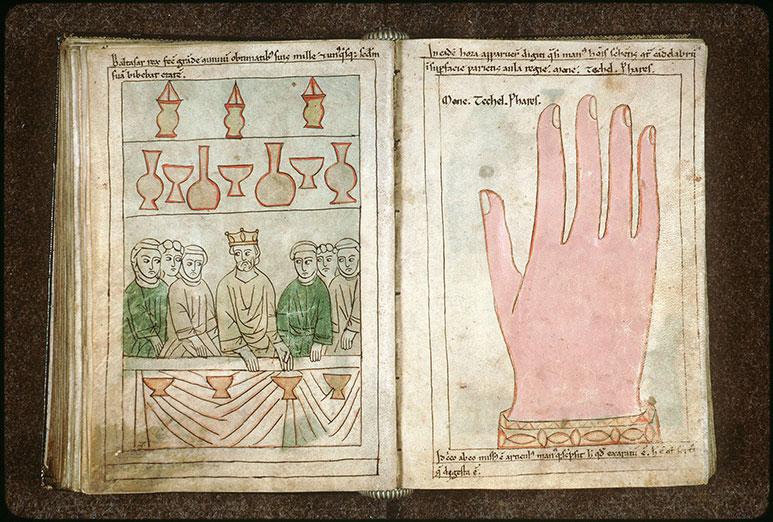 Bible en images - Balthasar et l'inscription 'Mane, Thecel, Phares'_0