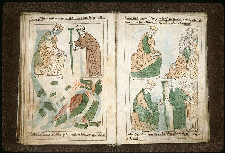 Bible en images - Babyloniens demandant à Cyrus de leur livrer Daniel_0