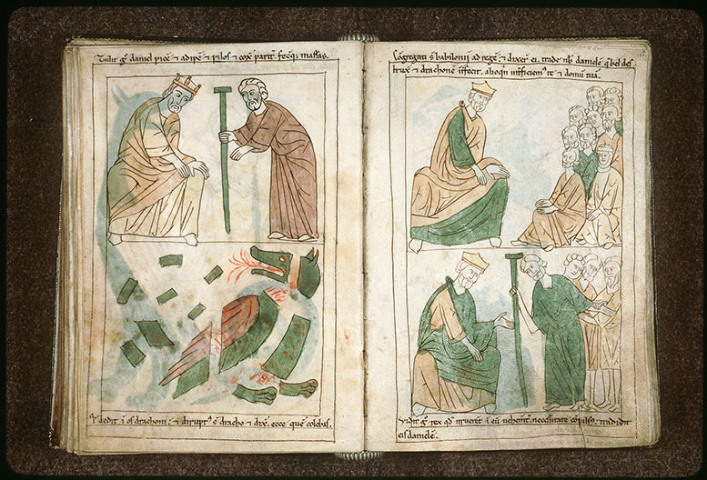 Bible en images - Cyrus livrant Daniel aux Babyloniens_0