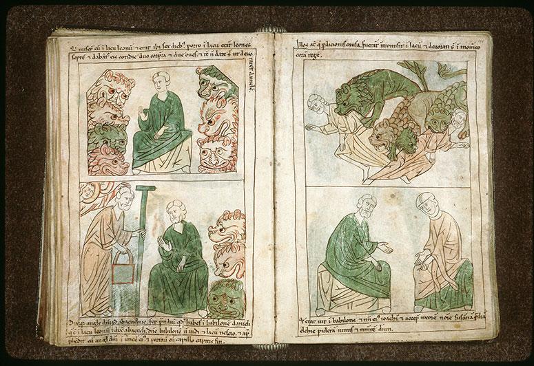 Bible en images - Babyloniens opposés à Daniel dévorés par les lions_0