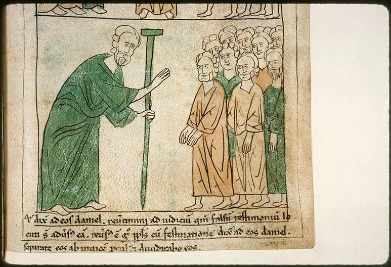 Bible en images - Daniel s'adressant aux anciens en faveur de Suzanne_0