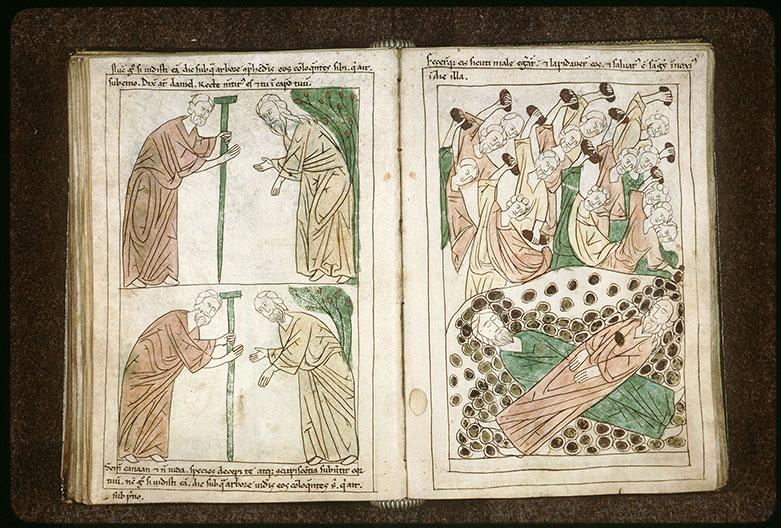 Bible en images - Lapidation des deux vieillards accusateurs de Suzanne_0