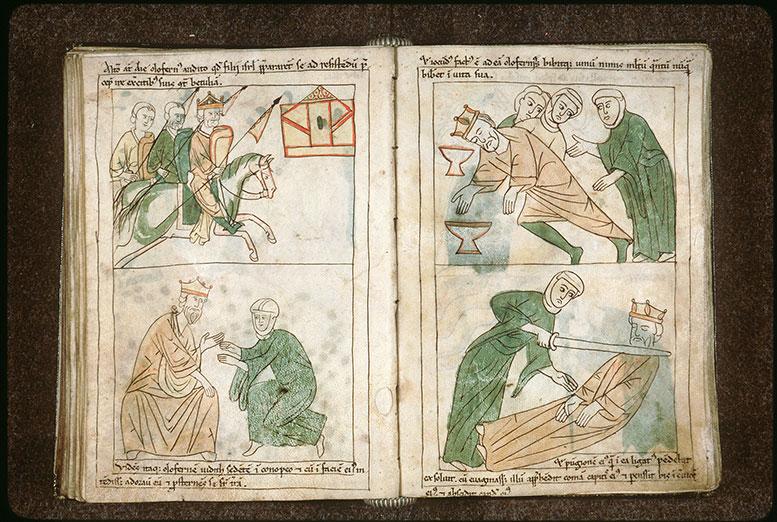 Bible en images - Holopherne et son armée chevauchant vers Béthulie_0