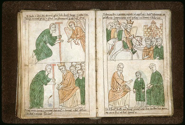 Bible en images - Tobit emmené en captivité à Ninive par Salmanasar_0