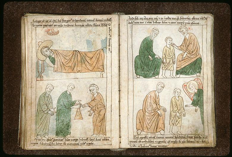 Bible en images - Tobit déposant de l'argent chez Gabaël_0