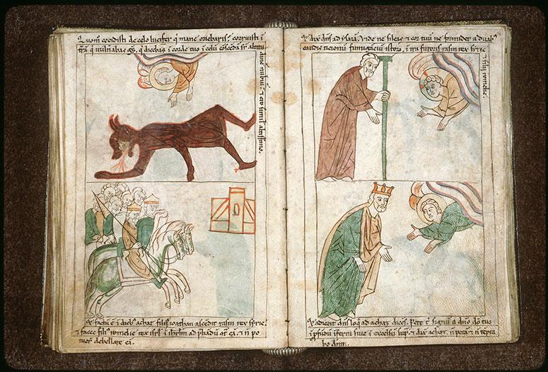 Bible en images - Raçôn et Péqah chevauchant vers Jérusalem_0
