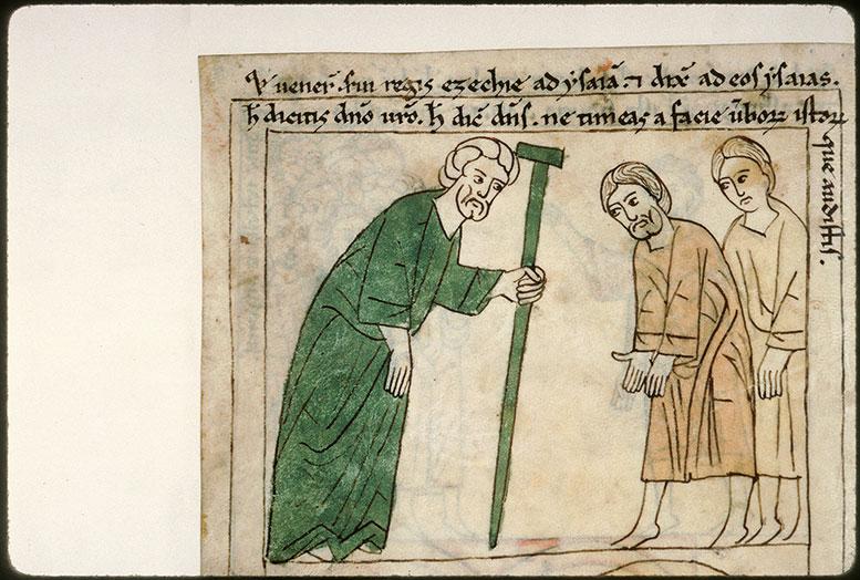 Bible en images - Isaïe s'adressant aux ministres d'Ezéchias, Elyaqim et Shebna_0