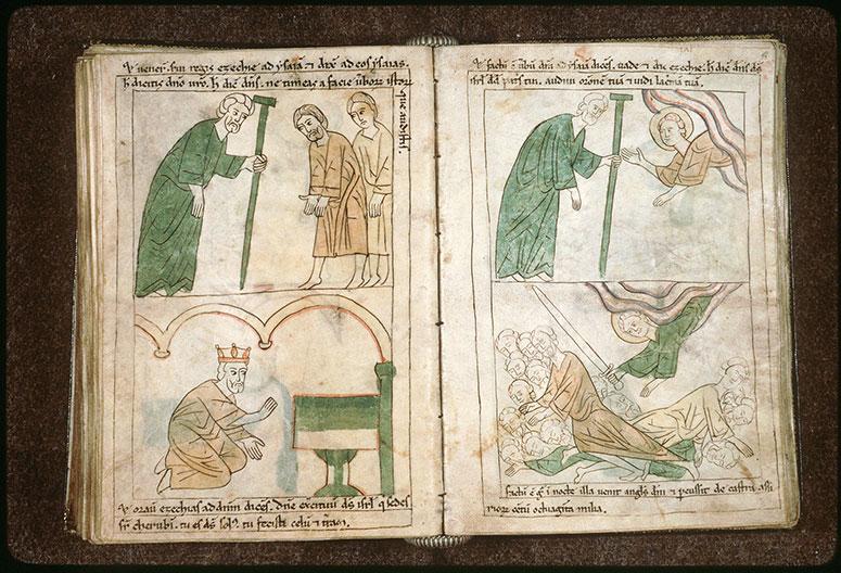 Bible en images - Ezéchias priant dans le Temple_0