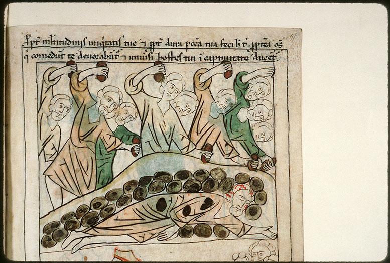 Bible en images - Lapidation de Jérémie_0