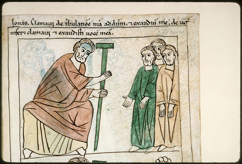 Bible en images - Jonas s'adressant au peuple_0