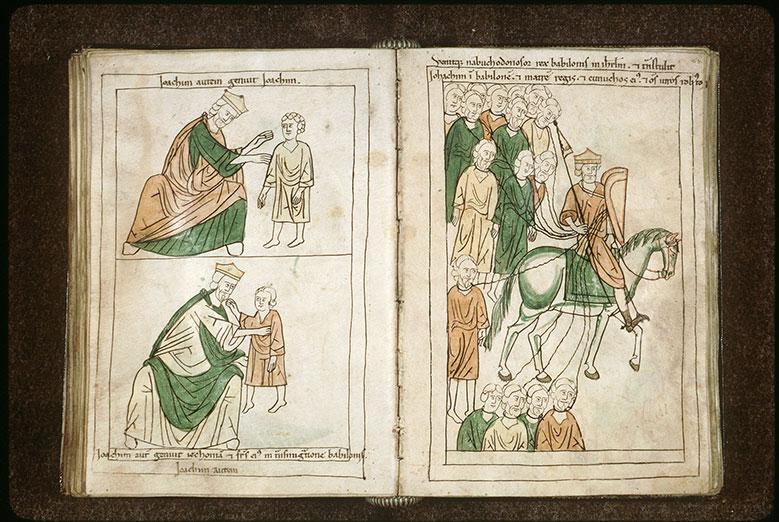 Bible en images - Joiakîn et les siens emmenés en captivité à Babylone_0