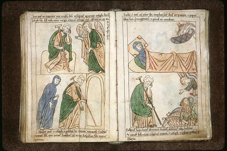 Bible en images - Annonce aux bergers et saint Joseph_0